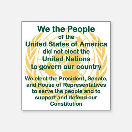 """WE THE PEOPLE OF THE UNITED Square Sticker 3"""" x 3"""""""