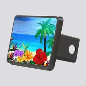 Tropical Beach Rectangular Hitch Cover