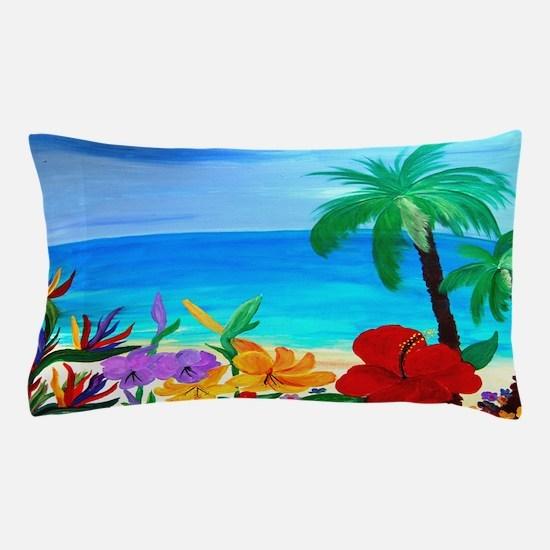 Tropical Beach Pillow Case