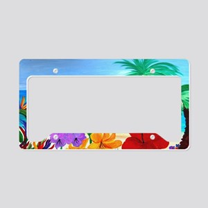 Tropical Beach License Plate Holder