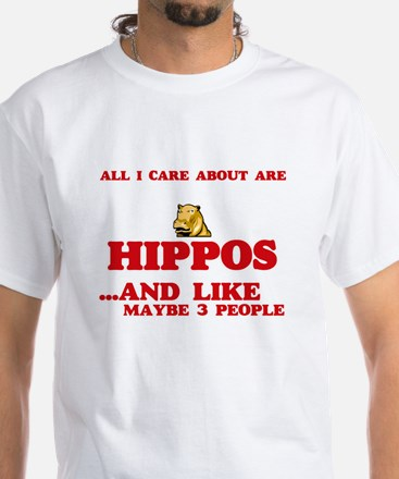 All I care about are Hippos T-Shirt