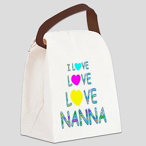 Love Love Nanna Canvas Lunch Bag