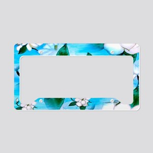 Magnoia art License Plate Holder