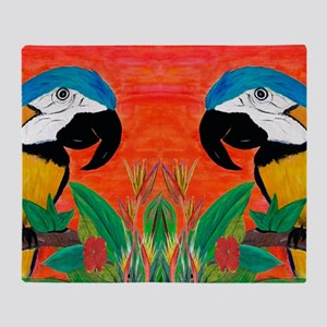 Parrot Head Throw Blanket