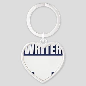 Writer Bullet-Proof Vest Heart Keychain