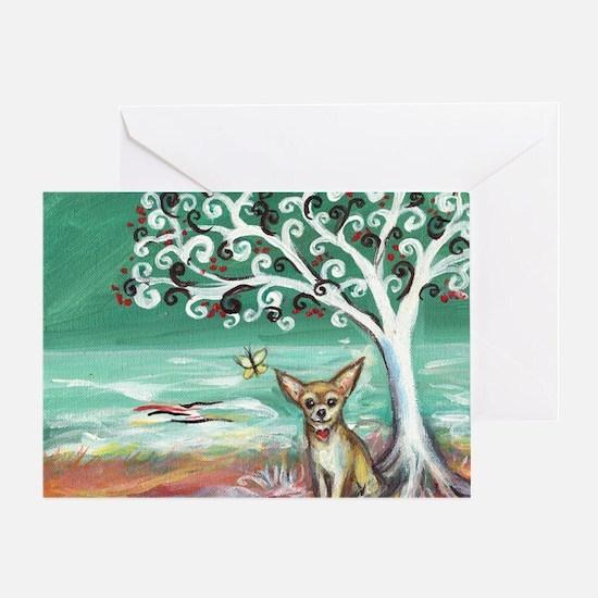 chihuahua spiritual love tree Greeting Card