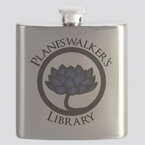 Planeswalkers Library Logo Flask