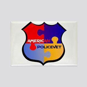 Policevet's Puzzle shield Rectangle Magnet