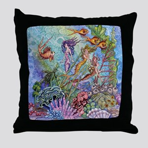 Mermaid Shower! Throw Pillow