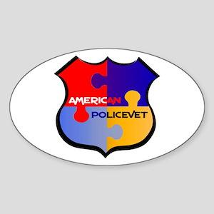 Policevet's Puzzle shield Oval Sticker