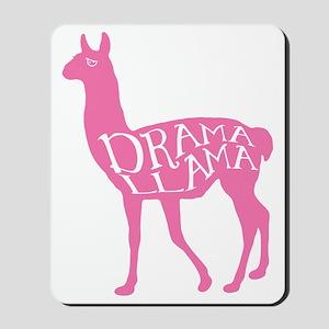 Pink Drama Llama Mousepad