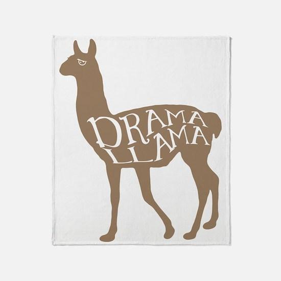 Drama Llama Throw Blanket