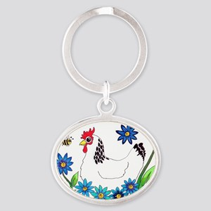 SPRING IS IN THE AIR Oval Keychain