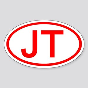 JT Oval (Red) Oval Sticker