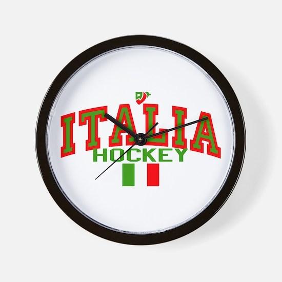 IT Italy Italia Hockey Wall Clock