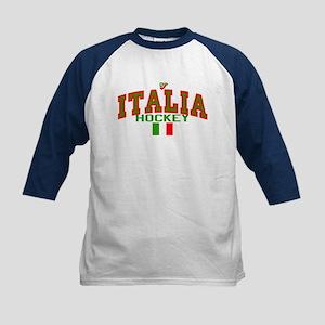 IT Italy Italia Hockey Kids Baseball Jersey