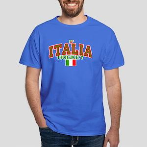 IT Italy Italia Hockey Dark T-Shirt