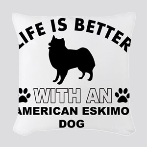 Life is better with an America Woven Throw Pillow
