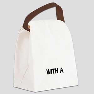 Life is better with a Border Terr Canvas Lunch Bag
