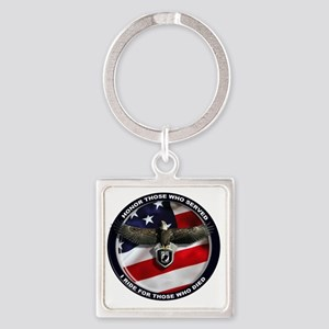 POW - Ride for those who died Square Keychain