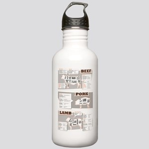Beef cuts Stainless Water Bottle 1.0L