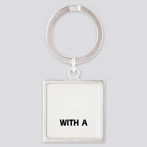 Life is better with a Chinese Shar Square Keychain