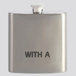 Life is better with a Chinese Sharpei Flask