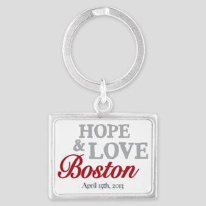 Boston Runners Landscape Keychain