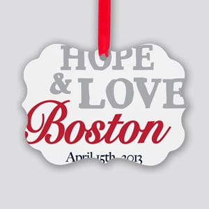 Boston Runners Picture Ornament