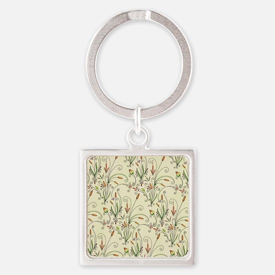 Natures Warmth Pattern Square Keychain