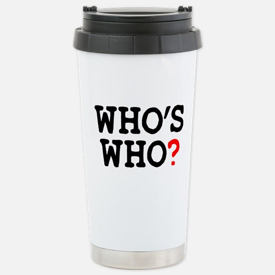 WHOS WHO Stainless Steel Travel Mug