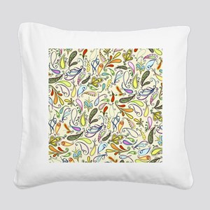 Crazy For Paisley Square Canvas Pillow