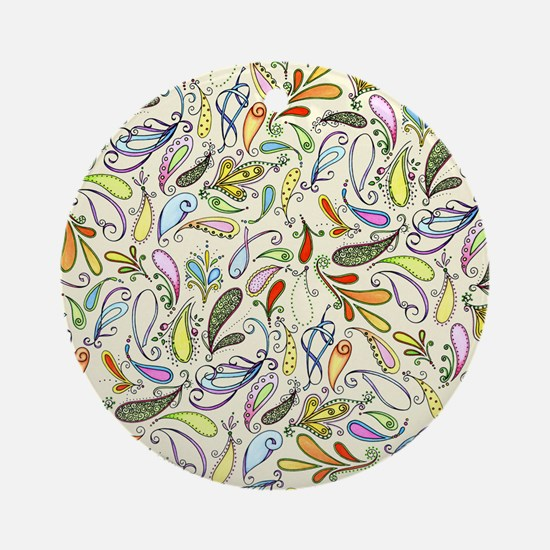 Crazy For Paisley Round Ornament