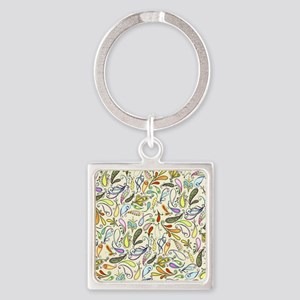 Crazy For Paisley Square Keychain