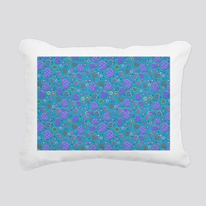 Girly Purple and Blue He Rectangular Canvas Pillow