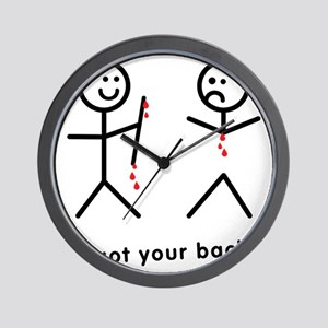 Blood Dripping I Got Your Back Wall Clock