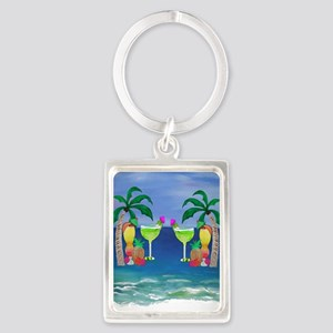 Tropical Drinks Portrait Keychain