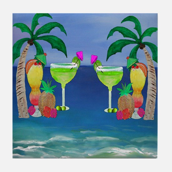 Tropical Drinks Tile Coaster