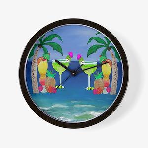 Tropical Drinks Wall Clock