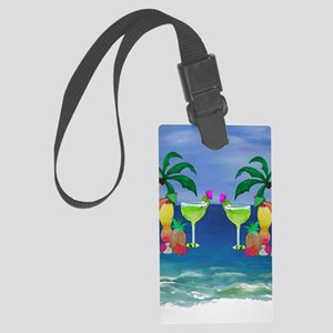 Tropical Drinks Large Luggage Tag