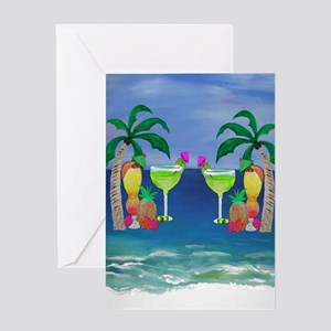 Tropical Drinks Greeting Card