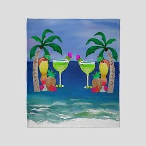 Tropical Drinks Throw Blanket