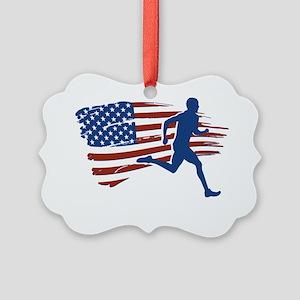 Patriot Runner Picture Ornament