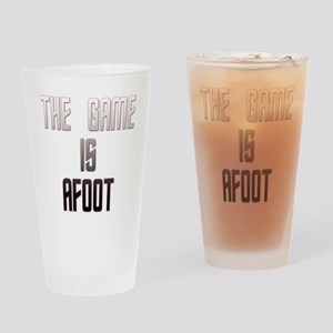 The Game Is Afoot Drinking Glass