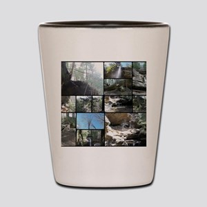 Hocking HIlls State Park Collage Shot Glass