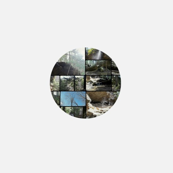 Hocking HIlls State Park Collage Mini Button