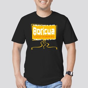 Boricua Men's Fitted T-Shirt (dark)