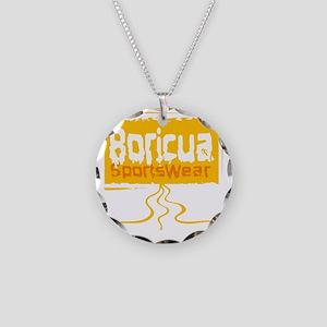 Boricua Necklace Circle Charm