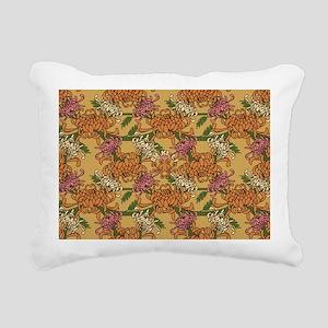 Mums Pattern Rectangular Canvas Pillow