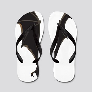 Vampire Bat Flip Flops